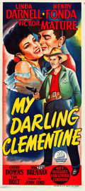 "Movie Posters:Western, My Darling Clementine (20th Century Fox, 1946). Australian Daybill(13"" X 30"").. ..."