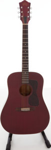 Musical Instruments:Acoustic Guitars, 1970s Guild D-25 Red/Brown Stain Acoustic Guitar, Serial #72433....