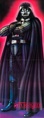 "Return of the Jedi (Sales Corp. of America, 1983). Darth Vader Door Poster (26"" X 70""). From the collection of..."