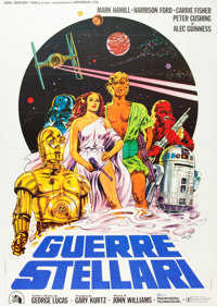 """Star Wars (20th Century Fox, 1978). Italian 2 - Foglio (39"""" X 55""""). From the collection of the late John L. Wi..."""