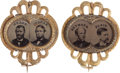 Political:Ferrotypes / Photo Badges (pre-1896), Grant & Colfax and Seymour & Blair: Matched Pair of FerroJugates.... (Total: 2 Items)