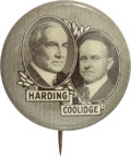 Political:Pinback Buttons (1896-present), Harding & Coolidge: Overlapping Jugate....