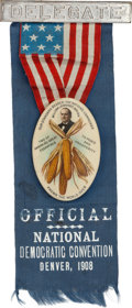 Political:Pinback Buttons (1896-present), William Jennings Bryan: Classic Ears of Corn Convention Badge....