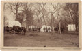 "Photography:Cabinet Photos, Guthrie, Oklahoma Land Run Albumen Photograph: ""Boomers Camp onWalnut River.""..."