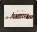 Photography:Cabinet Photos, Silver Gelatin Photograph: Rexburg, Idaho, Train Depot....
