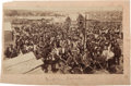 "Photography:Cabinet Photos, Guthrie, Oklahoma Land Run Albumen Photograph: ""Indian Parade.""..."