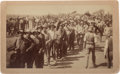 "Photography:Cabinet Photos, Albumen Photograph: ""Cherokee Strip Run.""..."