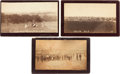 "Photography:Cabinet Photos, Three Guthrie, Oklahoma Land Run Albumen Photographs: "" Guthrie,Oklahoma,"" ""Guthrie from the West,"" and ""First Brick Block.""...(Total: 3 Items)"