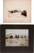 Photography:Cabinet Photos, Two Anonymous Photographs: Hotel Navajo and Tucson, ArizonaDepot.... (Total: 2 Items)