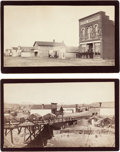 Photography:Cabinet Photos, Two Albumen Boudoir Photographs: Bitter Creek and Rock Springs,Wyoming.... (Total: 2 Items)