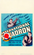 "Movie Posters:War, International Squadron (Warner Brothers, 1941). Window Card (14"" X22"").. ..."