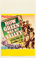 "Movie Posters:Drama, How Green Was My Valley (20th Century Fox, 1941). Window Card (14"" X 22"").. ..."