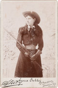 Photography:Cabinet Photos, Annie Oakley: Unusual Stacy Portrait. ...