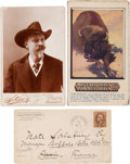 "Photography:Cabinet Photos, William F. ""Buffalo Bill"" Cody: Three Artifacts.... (Total: 3Items)"