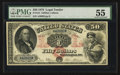 Large Size:Legal Tender Notes, Fr. 154 $50 1878 Legal Tender PMG About Uncirculated 55.. ...