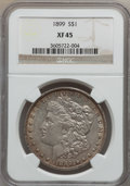 Morgan Dollars: , 1899 $1 XF45 NGC. NGC Census: (39/7956). PCGS Population(84/10569). Mintage: 330,846. Numismedia Wsl. Price for problemfr...