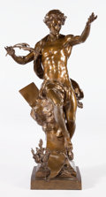 Bronze:European, A FRENCH PATINATED BRONZE FIGURE AFTER EMILE LOUIS PICAULT . AfterEmile Louis Picault (French, 1833-1915), Paris, France, c...