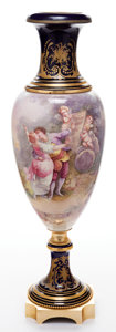 Decorative Arts, French:Other , A FRENCH SÈVRES-STYLE PORCELAIN AND GILT BRONZE VASE . Makerunknown, France, circa 1900. Marks: signed indistinctlyCarol...
