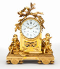 Timepieces:Clocks, AN ALFRED-EMMANUEL-LOUIS BEURDELEY FRENCH LOUIS XVI-STYLE GILT BRONZE MANTLE CLOCK . Alfred-Emmanuel-Louis Beurdeley (French...