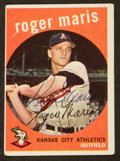 Baseball Cards:Autographs, 1959 Topps Roger Maris Signed Card....