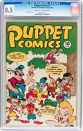 Golden Age (1938-1955):Funny Animal, Puppet Comics #1 (George W. Dougherty, 1946) CGC VF+ 8.5 Cream tooff-white pages....