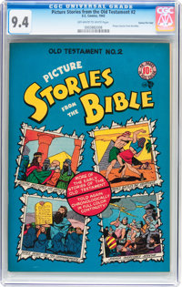 Picture Stories from the Old Testament #2 Gaines File pedigree 10/12 (EC, 1943) CGC NM 9.4 Off-white to white pages
