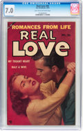 Golden Age (1938-1955):Romance, Real Love #58 (Ace Periodicals, 1953) CGC FN/VF 7.0 Light tan tooff-white pages....