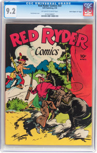 """Red Ryder Comics #33 Davis Crippen (""""D"""" Copy) pedigree (Dell, 1946) CGC NM- 9.2 Off-white to white pages"""