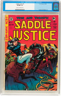 Golden Age (1938-1955):Western, Saddle Justice #6 (EC, 1949) CGC VF/NM 9.0 Cream to off-white pages....