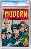 Golden Age (1938-1955):War, Modern Comics #46 (Quality, 1946) CGC FN/VF 7.0 Light tan to off-white pages....