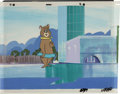 Animation Art:Production Cel, Cindy Bear Cel Set-Up with Original Background Animation Art(Hanna-Barbera, undated)....