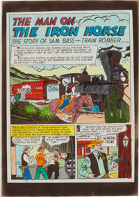 "Saddle Justice #3 (#1) ""The Man on the Iron Horse"" Silverprint Proof Group (EC, 1948).... (Total: 11 Items)"