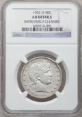 Barber Half Dollars: , 1902-O 50C -- Improperly Cleaned -- NGC Details. AU. NGC Census:(6/72). PCGS Population (6/67). Mintage: 2,526,000. Numism...