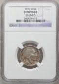 Buffalo Nickels, 1917-D 5C -- Stained -- NGC Details. XF. NGC Census: (14/673). PCGSPopulation (27/1002). Mintage: 9,910,000. Numismedia Ws...
