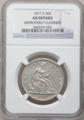 Seated Half Dollars, 1877-S 50C -- Improperly Cleaned -- NGC Details. AU. NGC Census:(5/392). PCGS Population (18/394). Mintage: 5,356,000. Num...