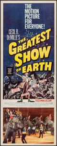 "Movie Posters:Drama, The Greatest Show on Earth (Paramount, R-1960). Insert (14"" X 36""). Drama.. ..."