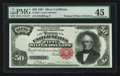 Large Size:Silver Certificates, Fr. 333 $50 1891 Silver Certificate PMG Choice Extremely Fine 45.....