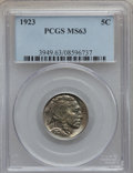 Buffalo Nickels: , 1923 5C MS63 PCGS. PCGS Population (216/958). NGC Census:(139/554). Mintage: 35,715,000. Numismedia Wsl. Price forproblem...