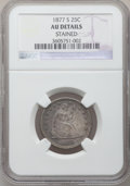 Seated Quarters: , 1877-S 25C -- Stained -- NGC Details. AU. NGC Census: (4/296). PCGSPopulation (17/326). Mintage: 8,996,000. Numismedia Wsl...