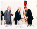Autographs:U.S. Presidents, Gerald Ford: Three Presidents Signed Photo....