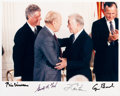 Autographs:U.S. Presidents, Gerald Ford: Four Presidents Signed Photo....