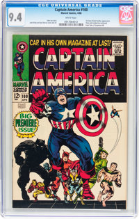 Captain America #100 (Marvel, 1968) CGC NM 9.4 White pages