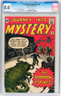 Silver Age (1956-1969):Science Fiction, Journey Into Mystery #82 (Marvel, 1962) CGC VF 8.0 Off-white towhite pages....