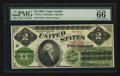 Large Size:Legal Tender Notes, Fr. 41a $2 1862 Legal Tender PMG Gem Uncirculated 66 EPQ.. ...