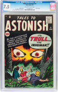 Silver Age (1956-1969):Science Fiction, Tales to Astonish #21 (Marvel, 1961) CGC VF- 7.5 Off-white to whitepages....