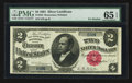 Large Size:Silver Certificates, Fr. 245 $2 1891 Silver Certificate PMG Gem Uncirculated 65 EPQ.....