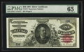 Large Size:Silver Certificates, Fr. 317 $20 1891 Silver Certificate PMG Gem Uncirculated 65 EPQ.....