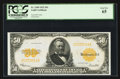Large Size:Gold Certificates, Fr. 1200 $50 1922 Gold Certificate PCGS Gem New 65.. ...