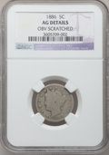 Liberty Nickels: , 1886 5C -- Obv Scratched -- NGC Details. AG. NGC Census: (0/464).PCGS Population (79/804). Mintage: 3,330,290. (#3847.38)...