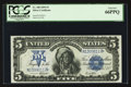 Large Size:Silver Certificates, Fr. 280 $5 1899 Silver Certificate PCGS Gem New 66PPQ.. ...